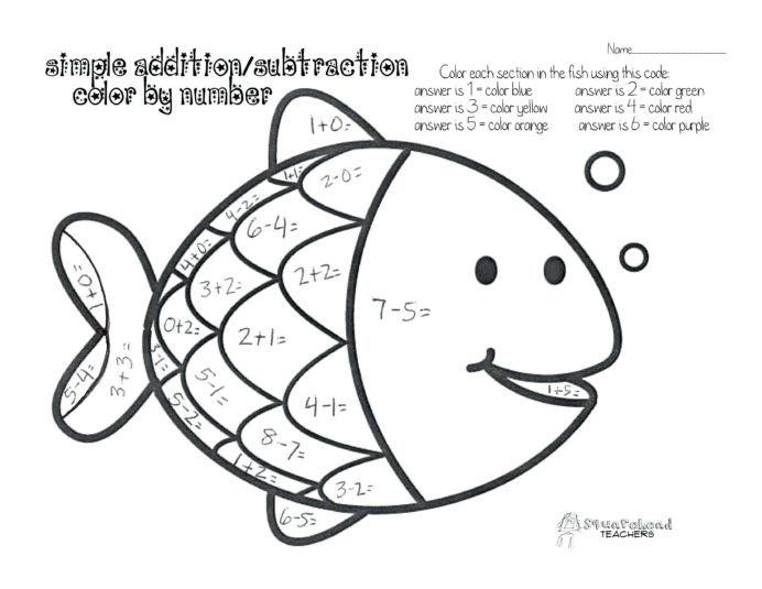 Worksheets Lights Addition Printable Math For Kindergarten