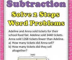 Addition Subtraction Word Problems 3rd Grade