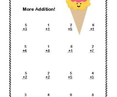 Addition Math For First Grade