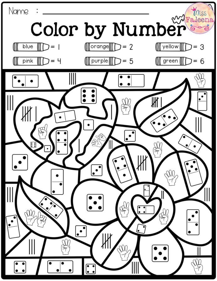 Best Color By Number Images In Numbers Maths Worksheets For Icse
