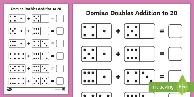 Domino Doubles Addition To  Worksheet Teacher Made