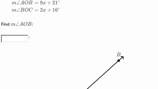 Equation Practice With Angle Addition Practice