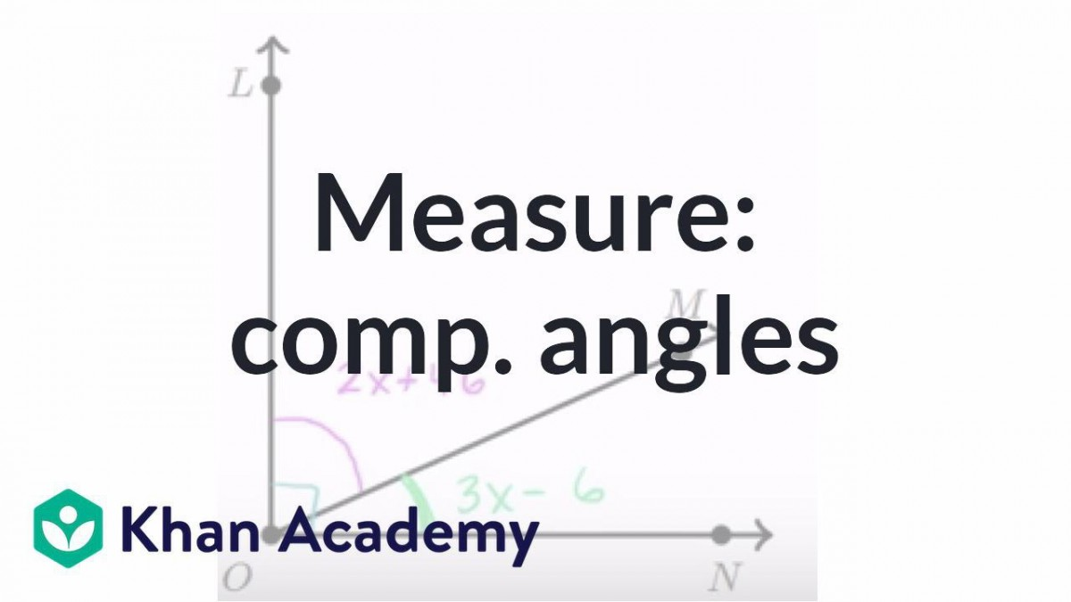 Equation Practice With Complementary Angles Video