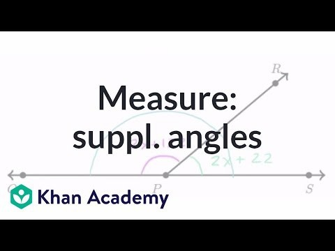 Equation Practice With Supplementary Angles Video