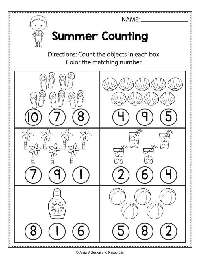 Kindergarten Packet Printable Addition For Summer End Of Year