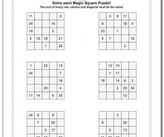 Addition Squares Game