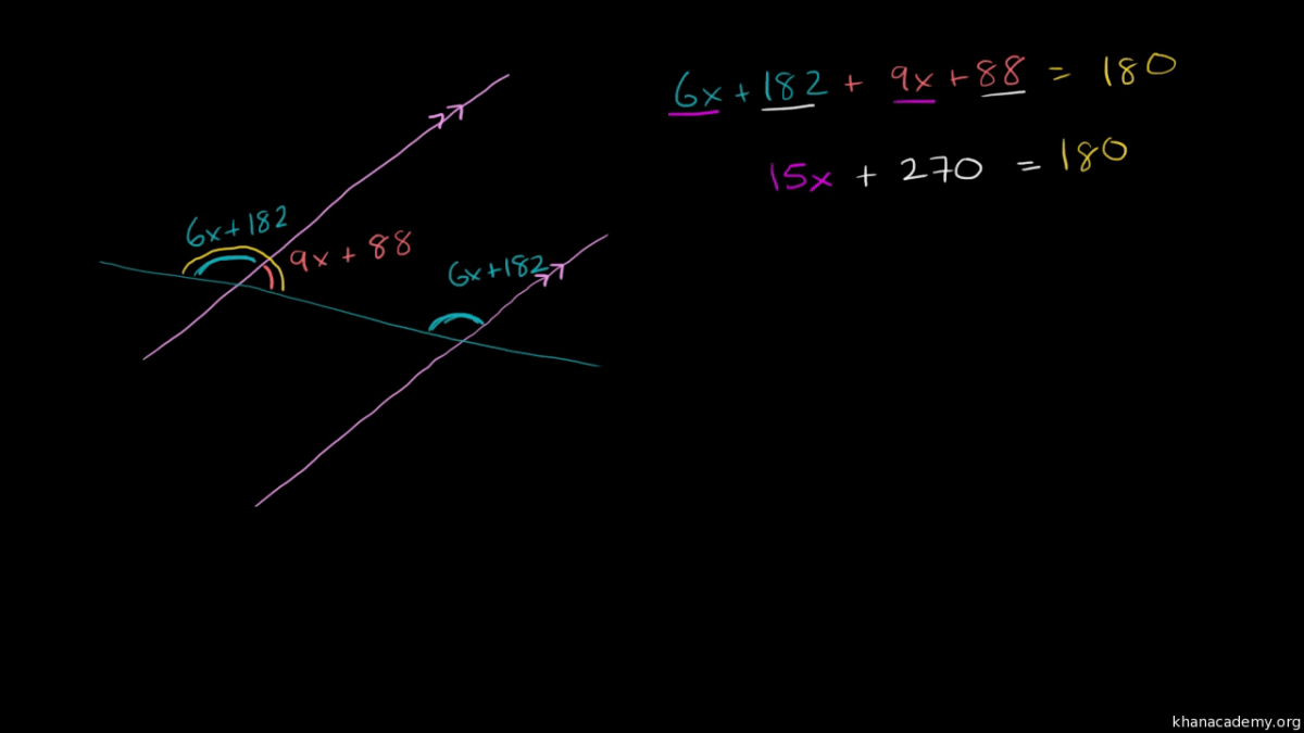Measures Of Angles Formed By A Transversal Video