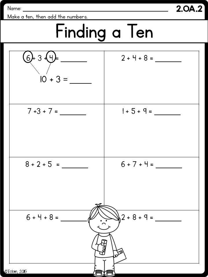 How To Teach Addition To 2nd Grade Worksheets | Worksheet Hero