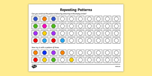 Pattern Worksheet  Worksheet Copy  Recognize And Repeat Patterns