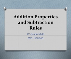 Addition Properties And Subtraction Rules 4th Grade