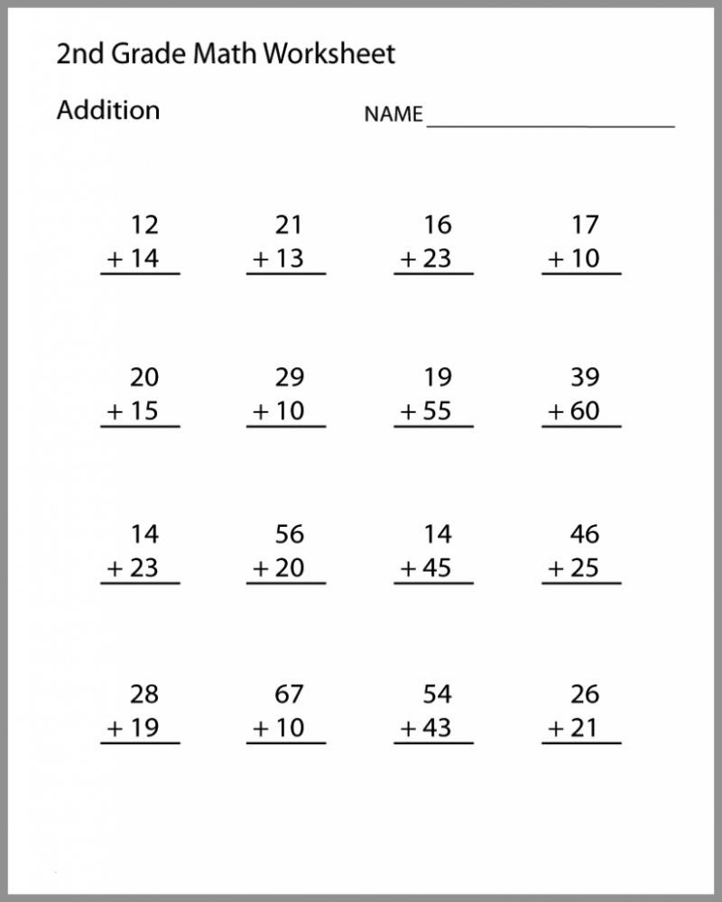 Printable Nd Grade Math Worksheets In