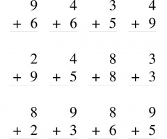 Single Digit Addition Without Regrouping